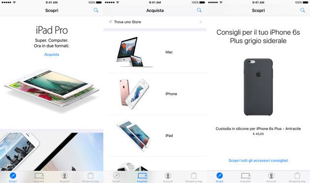 Apple Store app supporta ora i pagamenti con Touch ID