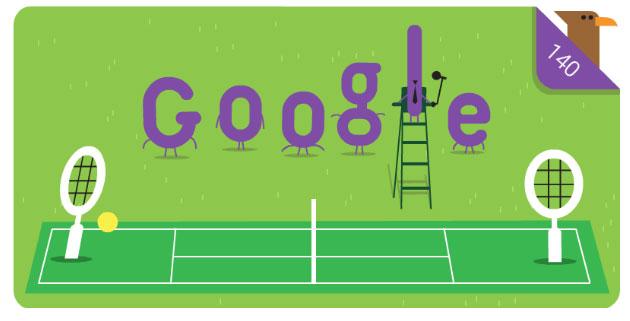 140 anni di Wimbledon nel Doodle di Google