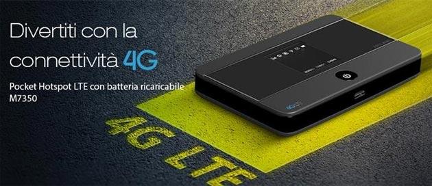TP-Link Wi-Fi mobile LTE M7350, Hotspot 4G LTE, Wi-Fi Dual Band con slot Micro SD