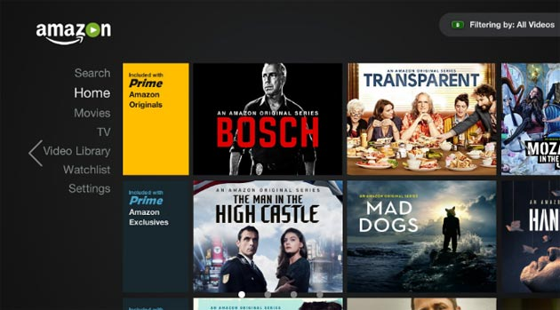 Amazon Prime Video su PlayStation 3, PS4 e Nvidia Shield Android TV
