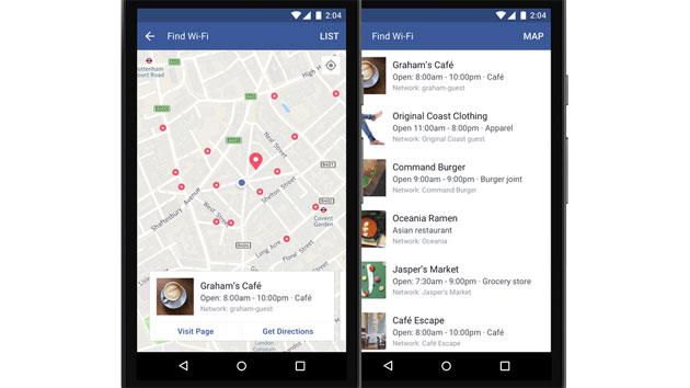 Facebook, come usare Find Wi-Fi per trovare reti WiFi pubbliche