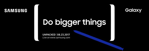 Foto Galaxy Note 8 ufficiale il 23 Agosto al Samsung Unpacked a New York