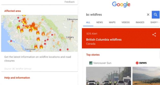 Google, avvisi SOS in situazioni di emergenza