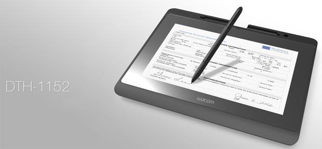 Wacom DTH-1152, display interattivo per consultare e firmare documenti elettronici