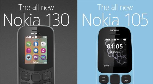Nokia 130 e 105 2017 ufficiali: Specifiche, Foto, Video e Prezzi