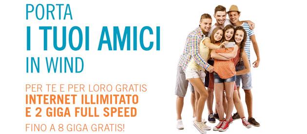 Wind Porta i tuoi Amici, fino a 8 Giga gratis [Ottobre 2017]