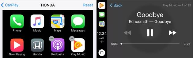Google Play Musica in Apple CarPlay