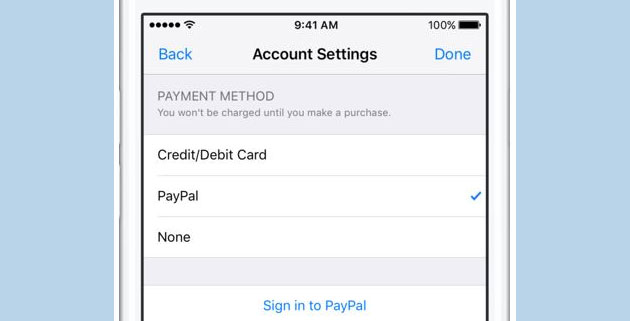 Foto Come pagare con Paypal su App Store, iTunes e Apple Music