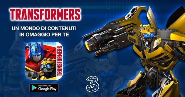 3 regala contenuti speciali in Transformers Combattenti su Google Play Store