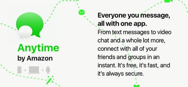 Amazon Anytime, app di messaggistica in arrivo