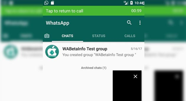 Foto Whatsapp testa il Picture-In-Picture su Android O