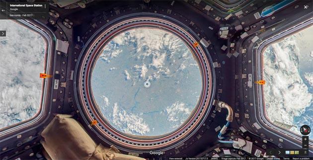Google Street View ora consente di viaggiare nello spazio a bordo della ISS