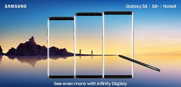 Samsung Galaxy S8 vs Galaxy Note8: le Differenze