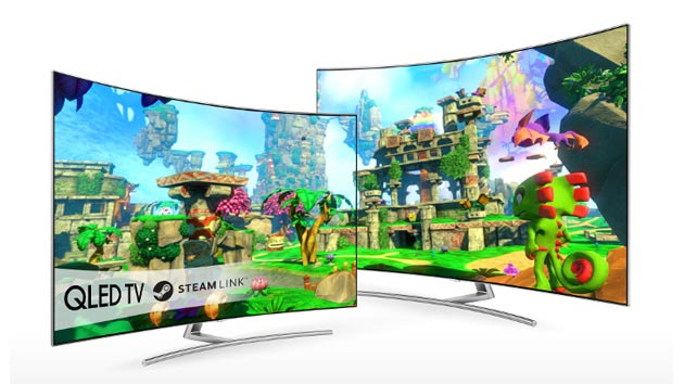 Foto Steam Link su Smart TV Samsung, giochi in streaming dal PC sul Televisore