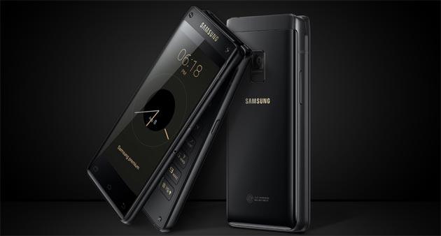 Samsung W2018, telefono a conchiglia con doppio display FHD, Bixby e camera F1.5