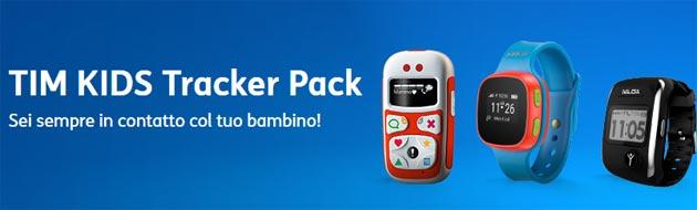 TIM KIDS Tracker Pack, localizzatore per bambini con Minuti, SMS e Internet inclusi
