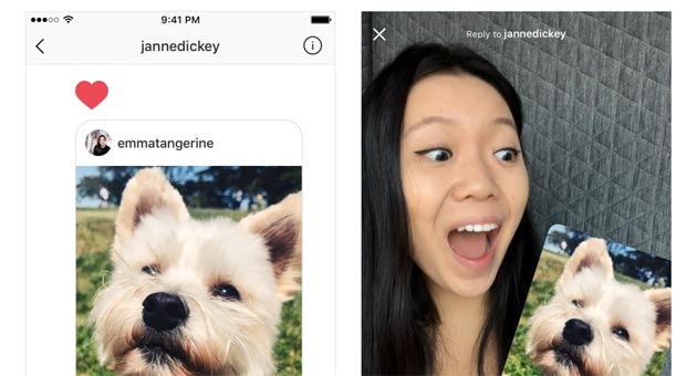 Instagram, Foto e Video come Risposta per Storie e Direct