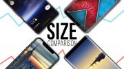 Google Pixel 2 vs iPhone 8 vs Galaxy Note 8 vs LG V30, dimensioni a confronto