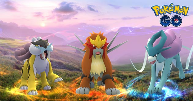 Pokemon GO, arrivano i Leggendari Raikou, Entei e Suicune e Test sul Campo per Battaglie Raid EX