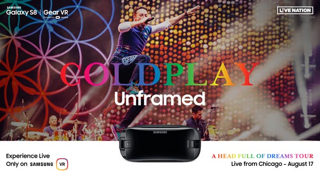 Samsung, concerto dei Coldplay in Live Streaming in Realta' Virtuale