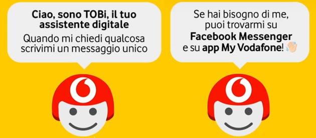Vodafone Bot Toby, strumento di assistenza digitale al cliente