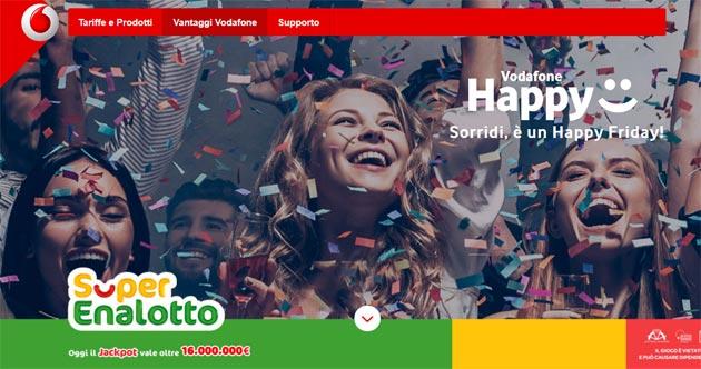 Con l'Happy Friday di Vodafone odierno potete giocare con la fortuna