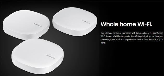 Samsung Connect Home, router e smart hub insieme