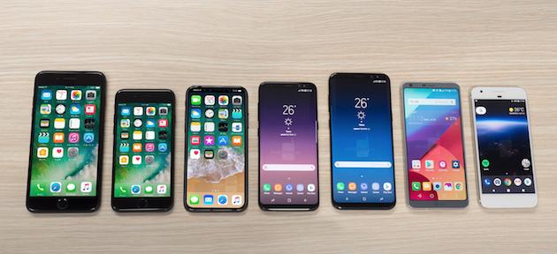 Apple iPhone 8 contro tutti, dimensioni a confronto in nuove immagini