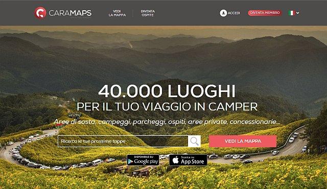 CaraMaps, App dei Camperisti con GeoChat facilita viaggi in Camper