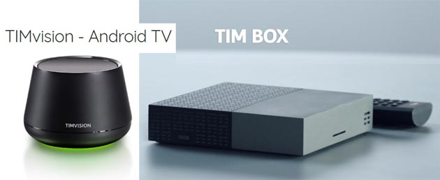 Confronto TIM Box con decoder TIMVision 5 con Android TV