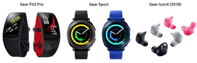Samsung a IFA 2017: Gear Sport, Gear Fit2 Pro, Gear IconX 2018