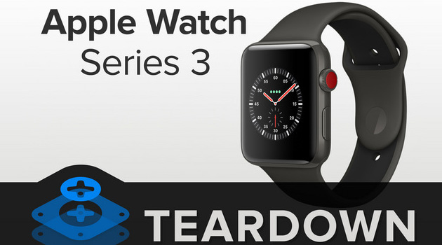 Apple Watch Series 3, teardown rivela piccoli cambiamenti
