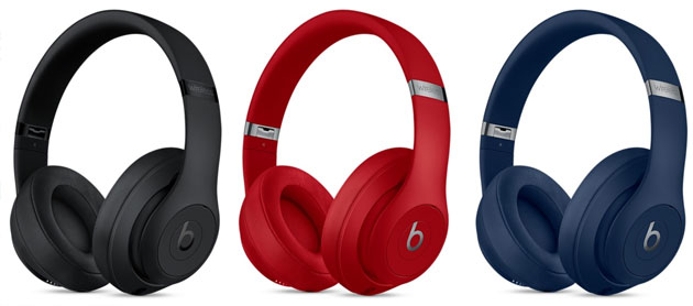 Apple Beats Studio 3, cuffie over ear wireless con cancellazione rumore adattiva pura