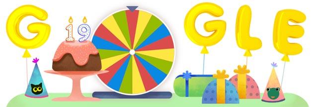 Google compie 19 anni e festeggia con un doodle speciale