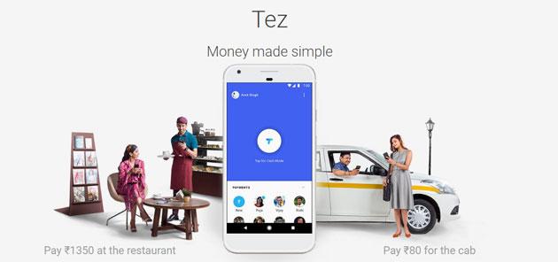 Google Tez, servizio di pagamento per l'India