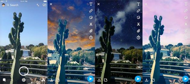 Snapchat introduce Sky Filters per cambiare il cielo nelle foto e Crowd Surf per combinare clip di uno stesso evento