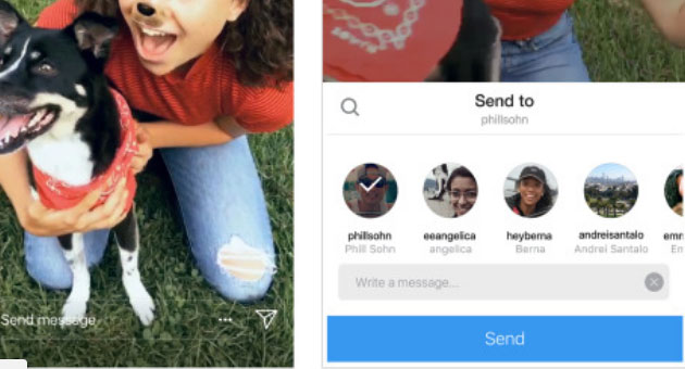 Instagram fa condividere storie nei messaggi diretti