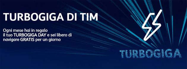 TIM TURBOGIGA DAY, un giorno di Internet gratis al mese