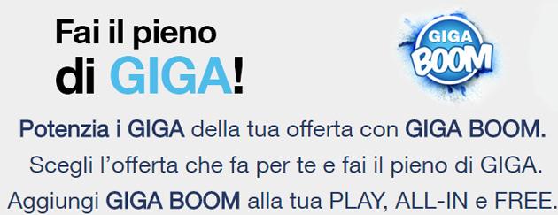 3 Giga Boom, 15 Giga in piu' a 10 euro per Play, All-In e Free di Tre