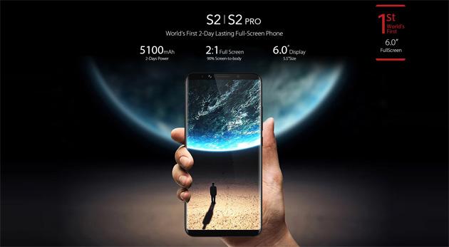 Umidigi S2 e S2 Pro, smartphone da 6 pollici con batteria 5100mAh che dura 2 giorni