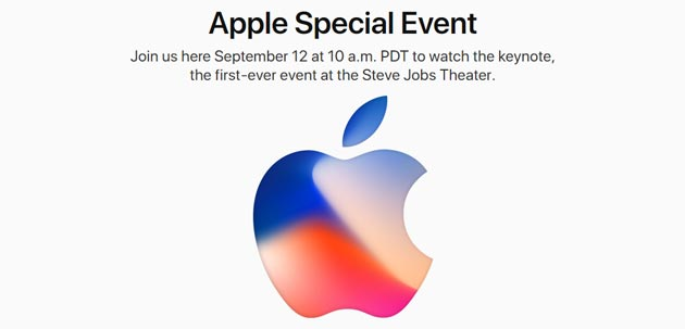 Apple annuncia iPhone X, iPhone 8, Apple TV 4k, Watch Series 3, iOS 11