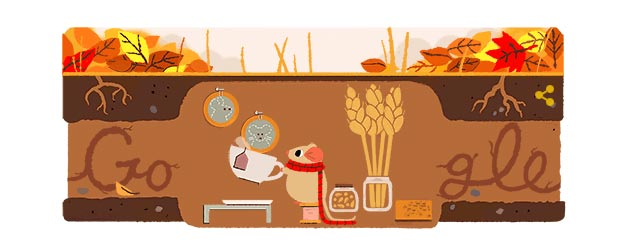 Google Doodle al Primo Giorno d' Autunno 2017