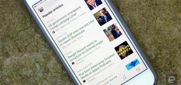 Twitter raccoglie gli Articoli Popolari dalla Timeline