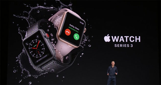 Foto Apple Watch Series 3 con GPS e LTE opzionale: Specifiche, Foto e Prezzi. In Italia da 379 euro con solo GPS