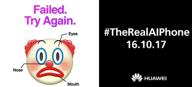 Huawei si prende gioco del 'fallimento' del FaceID di Apple