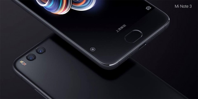 Xiaomi Mi Note 3 ufficiale: Specifiche, Foto, Video e Prezzi