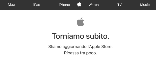 Apple Store Online down aspettando iPhone X