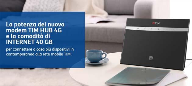 TIM HUB 4G, Modem Wi-Fi ac 4GPLUS