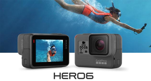 GoPro Hero6 con supporto 4k 60fps e 1080p 240fps da 570 euro