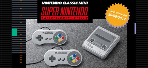 Nintendo Classic Mini, replica in miniatura del classico Super NES in vendita
